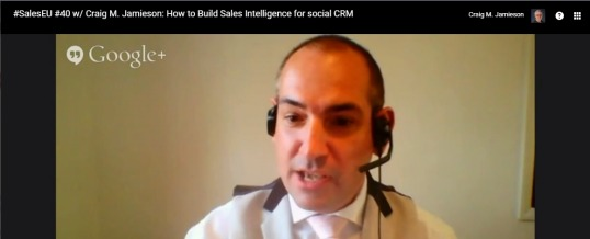 How to Build Sales Intelligence for Social CRM [G+ Hangout]